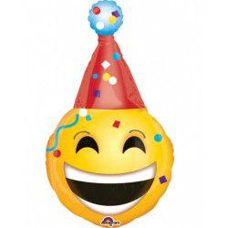 Ballon aluminium géant Emoticone visage festif 99 cm Déco festive 3452501