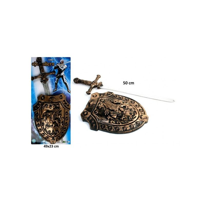 Epée moyen-âge 50 cm avec bouclier Jouets et articles kermesse 27110