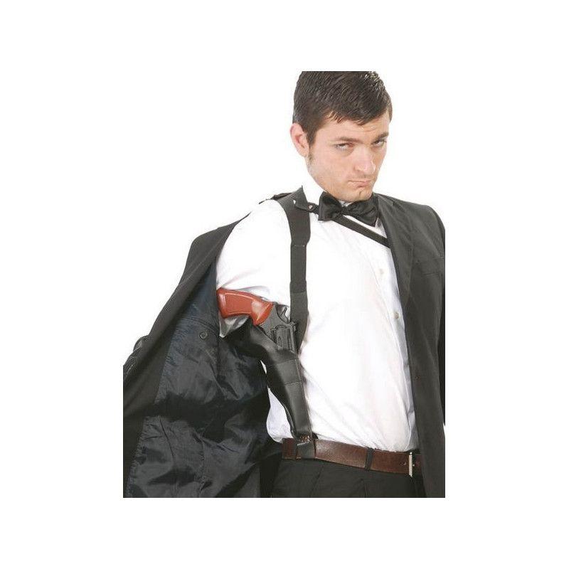 Holster d'épaule noir pour pistolet Accessoires de fête 16729