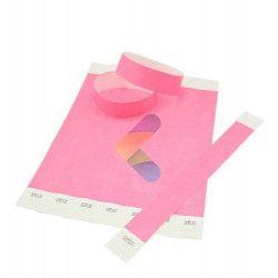Bracelets de contrôle papier Tyvek® x 10 UV Fluo 25 mm Accessoires de fête 08A01