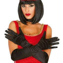Accessoires de fête, Paire de gants satin noir 51 cm, 16755, 6,90€