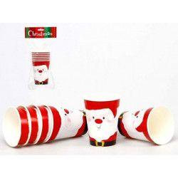 Déco festive, Gobelets en carton thème Noël, 16825ATOSA, 1,50€