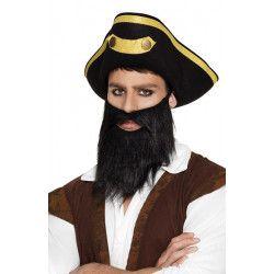 Barbe noire pirate adulte Accessoires de fête 01840