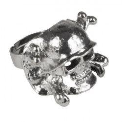 Bague tête de mort pirate Accessoires de fête 64401