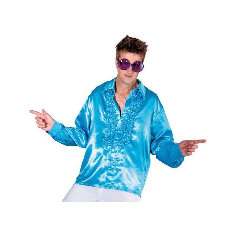 Chemise disco bleue adulte taille XXL Déguisements C4033T56