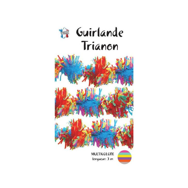 Guirlande trianon 3 m en papier soie multicolore Déco festive 03001MU
