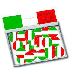 Sachet 150 confettis de table drapeau Italie Déco festive 30002I