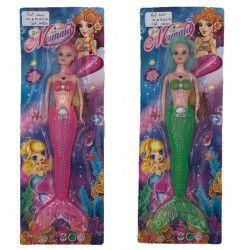 Jouets filles, Poupée sirène 34 cm jouet kermesse, 6104, 1,10€