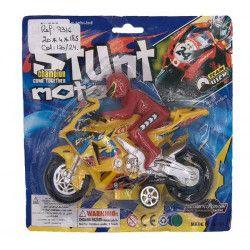Voiture-Moto-Avion, Moto avec pilote 16 x 11 cm jouet kermesse, 7316TOYS, 1,10€