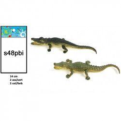 Animal crocodile PVC 14 cm vendu par 48 Jouets et kermesse 13021-LOT