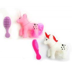 Jouets et kermesse, Licorne PVC à coiffer kermesse vendue par 36, 10518-LOT, 0,31€