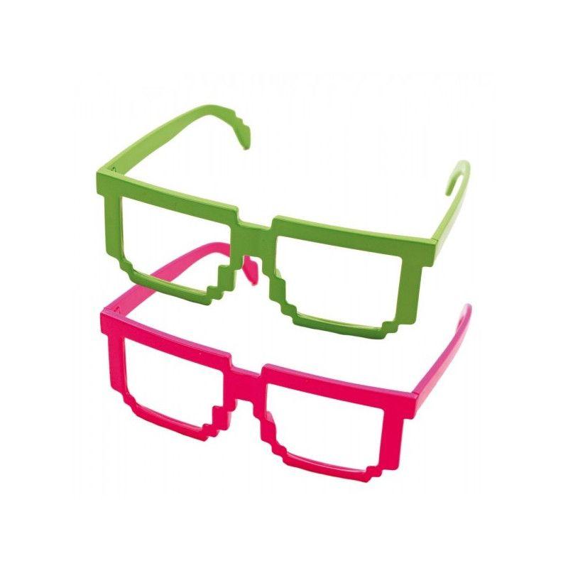 Lunettes geek fluo UV Accessoires de fête 871183