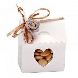 Boîte dragées en carton maison blanche x 10 Déco festive 16895C