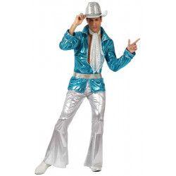 Déguisements, Déguisement disco bleu homme taille M-L, 10384, 29,90€