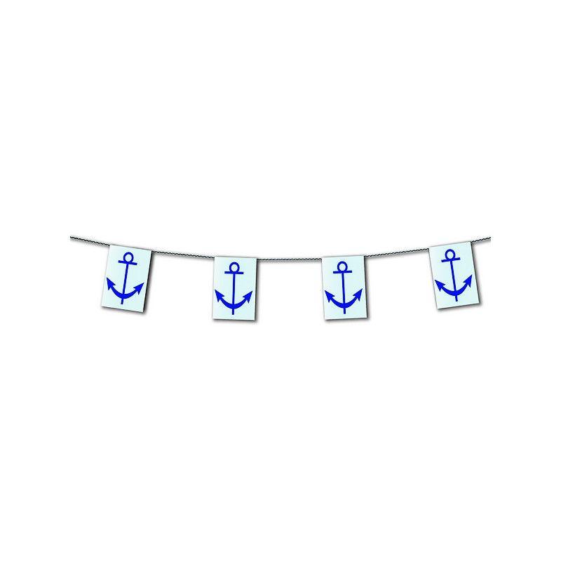 Guirlande plastique ancre marine 10 m Déco festive 2040022SC