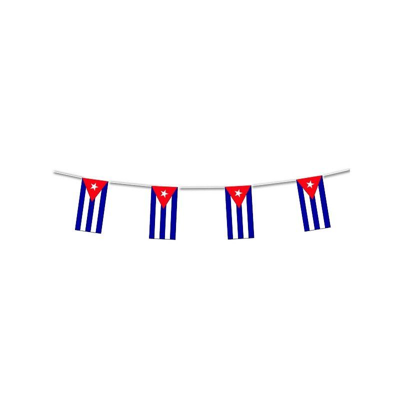 Guirlande plastique drapeau Cuba 10 m Déco festive 204009SC