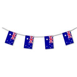 Guirlande plastique drapeau Australie 10 m Déco festive 204017SC