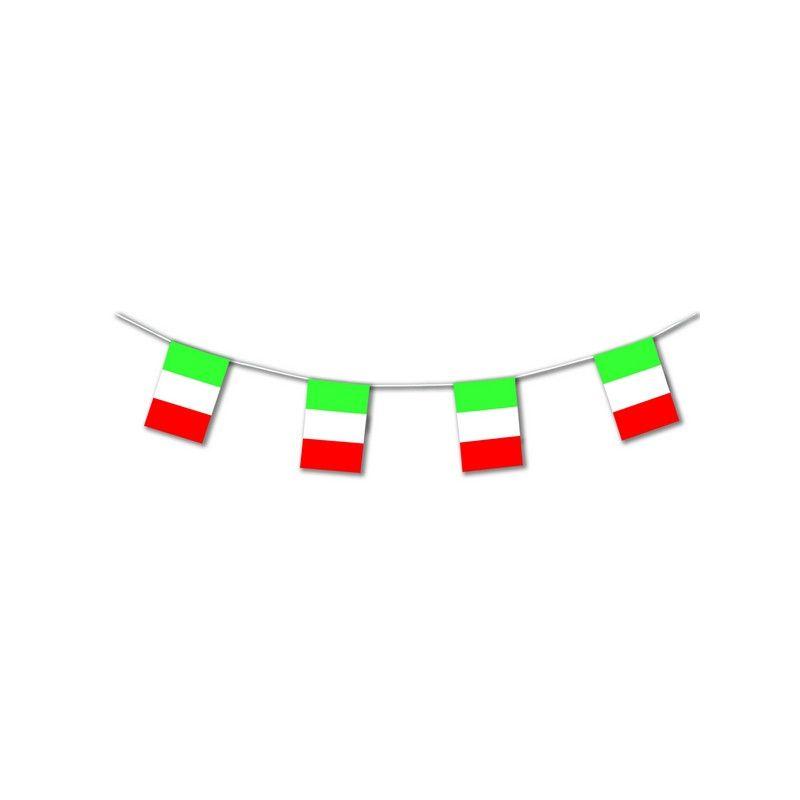 Guirlande plastique drapeau Italie 10 m Déco de fête 20401SC