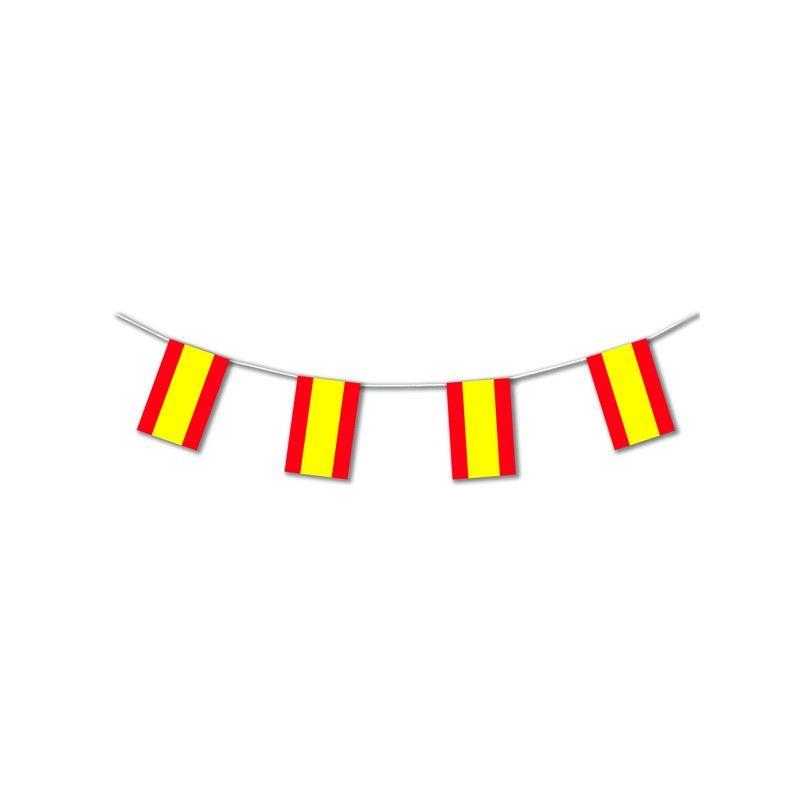 Guirlande plastique drapeau Espagne 10 m Déco festive 20402SC