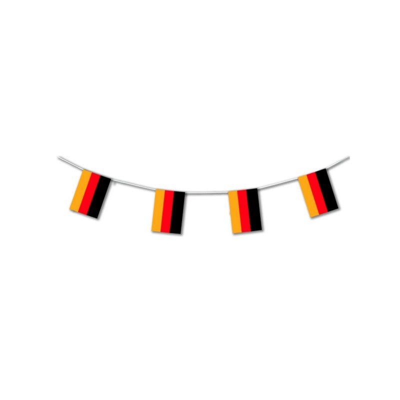 Guirlande plastique drapeau Allemand 10 m Déco festive 20405SC