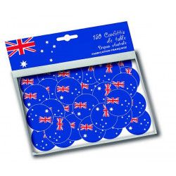 Sachet 150 confettis de table drapeau Australie Déco festive 30002AU