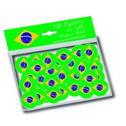 Sachet 150 confettis de table drapeau Brésil Déco festive 30002B