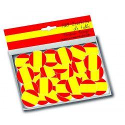 Sachet 150 confettis de table drapeau Espagne Déco festive 30002E