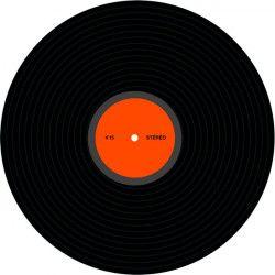 Déco festive, Déco disque vinyle 30 cm, 30007, 1,95€