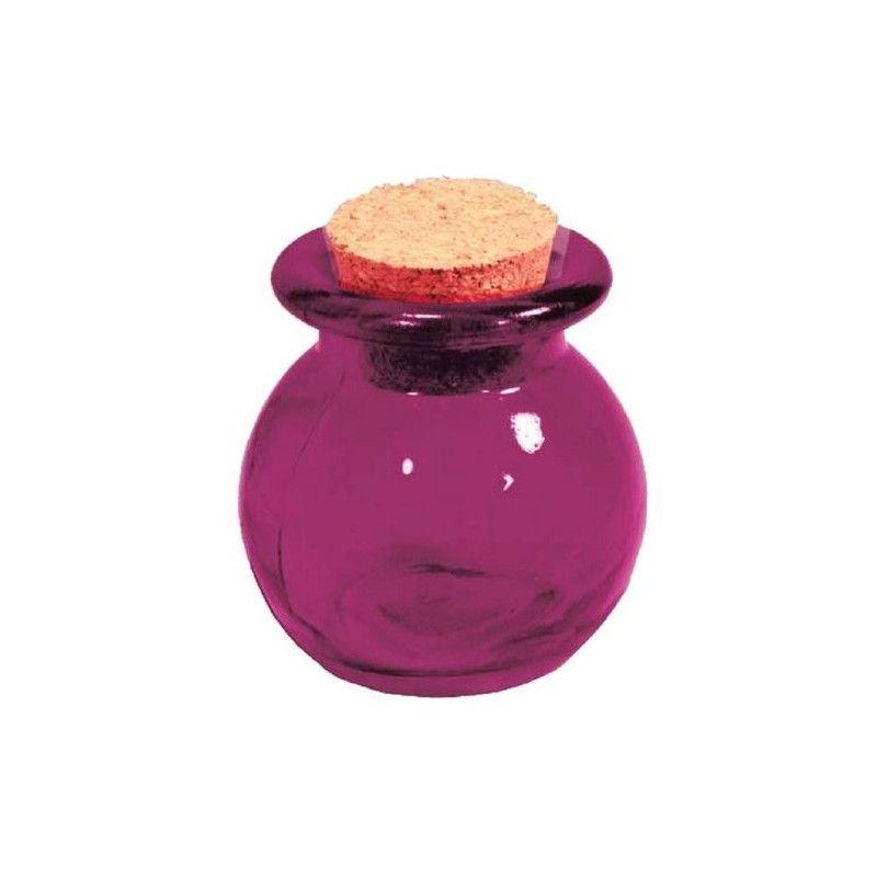 Pot à dragées boule fuschia Déco festive 1700005-F