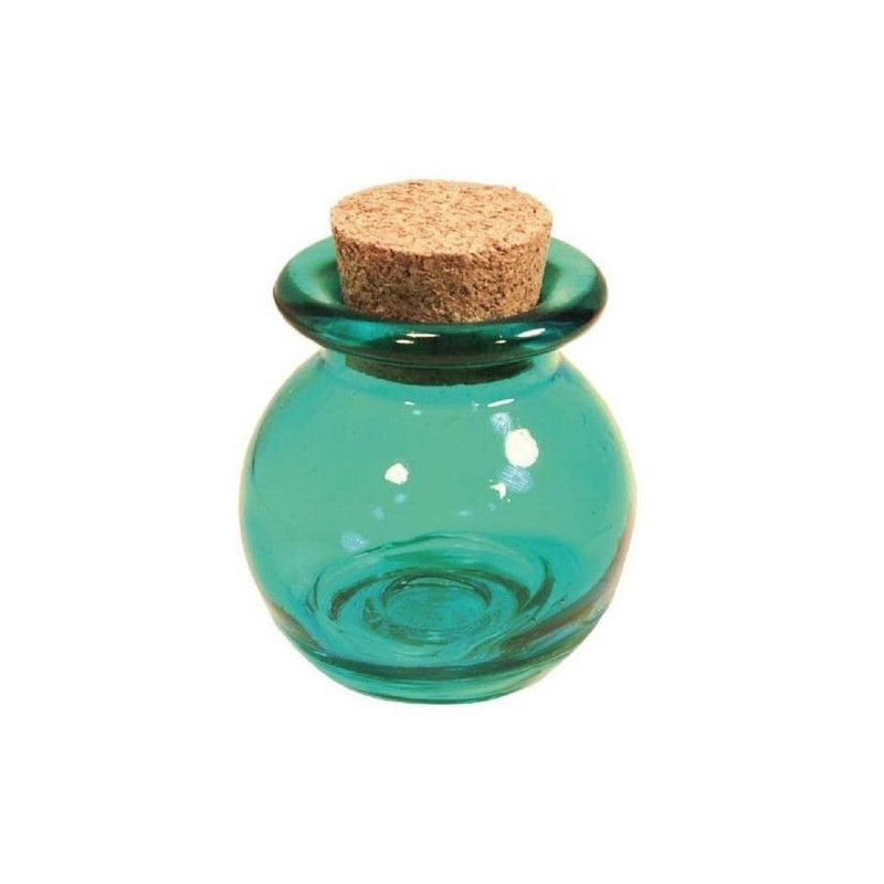 Pot à dragées boule turquoise Cake Design 1700005-T