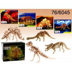 Puzzle en bois Squelette de dinosaure 3D Jouets et articles kermesse 766045