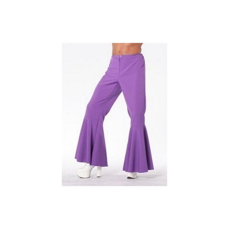 Pantalon hippy bi-stretch violet adulte Déguisements 5118D