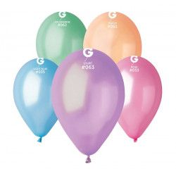 Déco festive, Sachet de 10 ballons métallisés multicolores 30 cm, BA19680/MULT, 2,50€