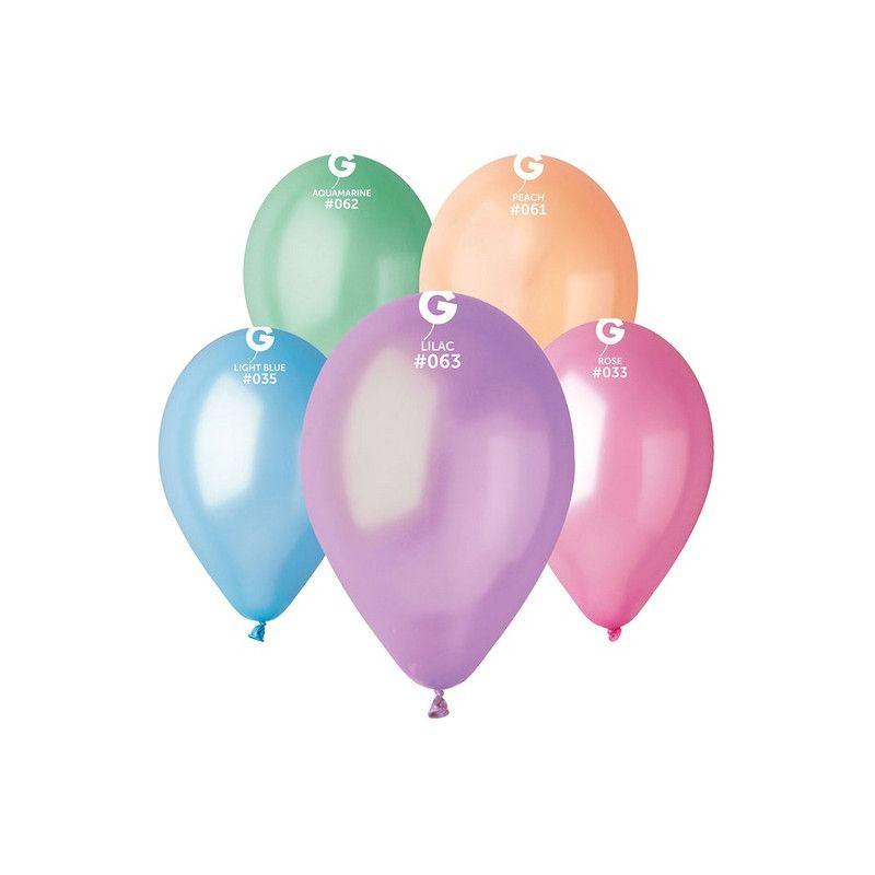 Sachet 10 ballons métallisés 30 cm multicolore clair Déco festive 302745
