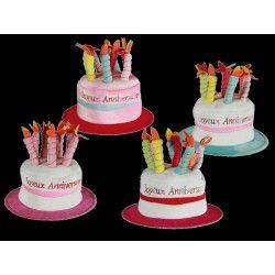 Chapeau Joyeux Anniversaire 8 bougies Accessoires de fête 621023