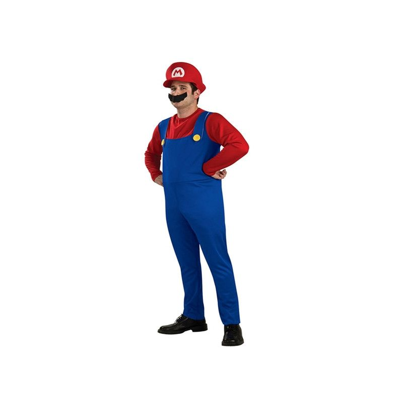 Déguisement plombier bleu et rouge homme taille L Déguisements 39352