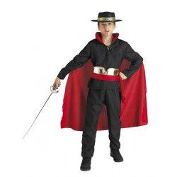 Déguisements, Déguisement super héro noir et rouge enfant, 888-, 29,90€