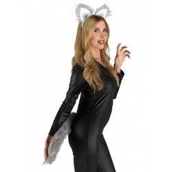 Accessoires de fête, Kit queue et serre tête loup adulte, 72520, 8,90€