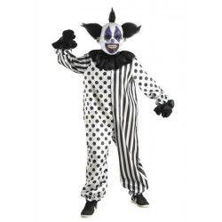 Déguisements, Déguisement clown démoniaque noir et blanc enfant, 892-, 34,50€