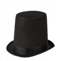 Accessoires de fête, Chapeau haut de forme noir de Lord adulte, 70918, 6,90€