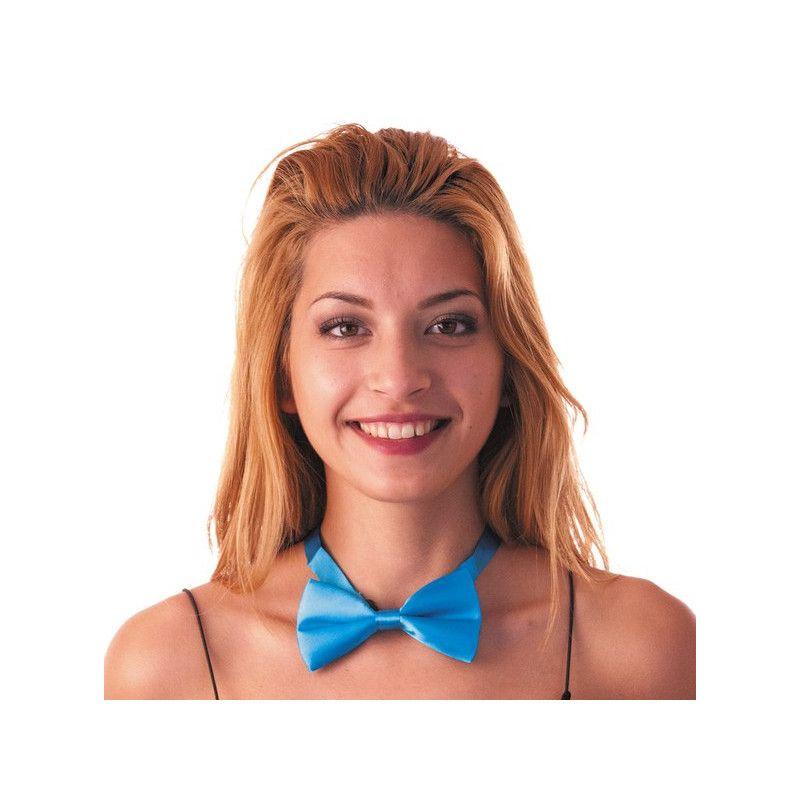 Noeud papillon bleu fluo Accessoires de fête 33340BLEU