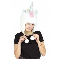 Coiffe licorne blanche adulte Accessoires de fête 90850