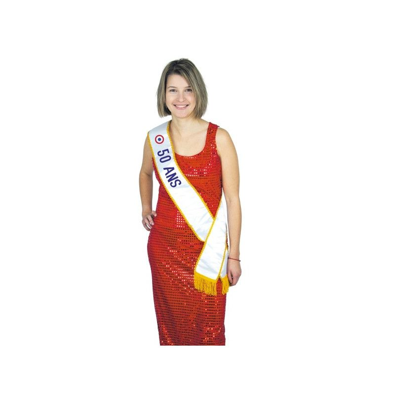 Echarpe Miss 50 ans Accessoires de fête 8731050