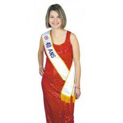 Accessoires de fête, Echarpe Miss 40 ans, 8731040, 4,50€