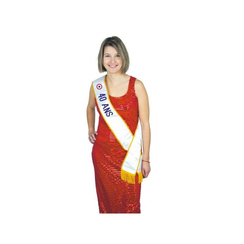 Echarpe Miss 40 ans Accessoires de fête 8731040
