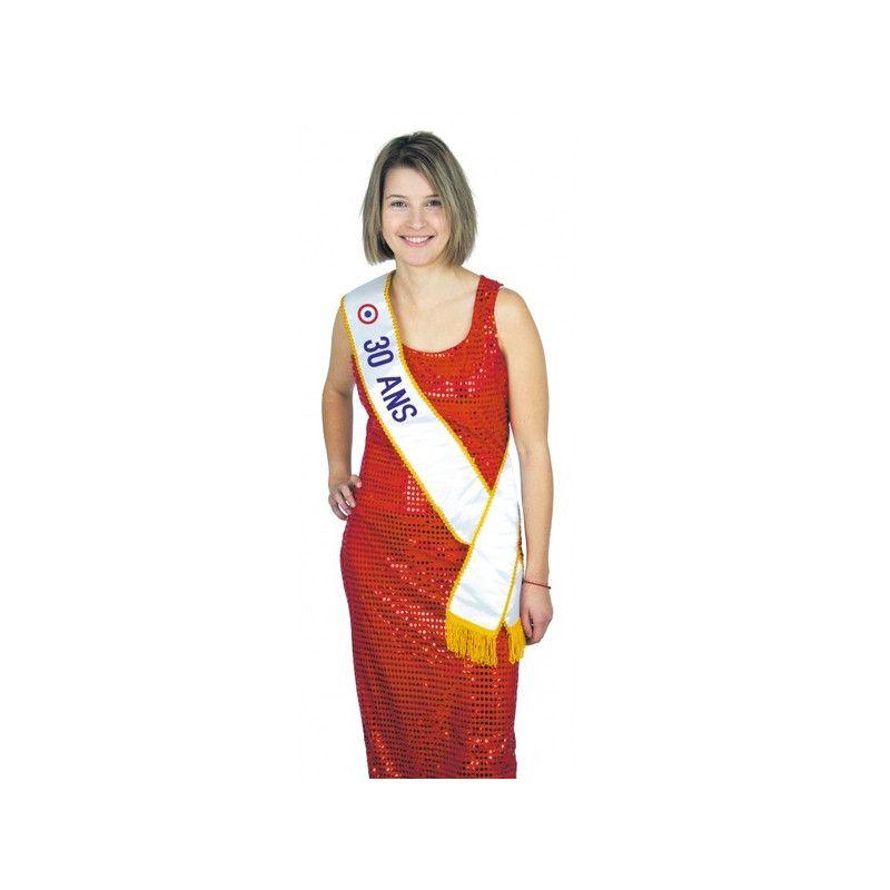 Echarpe Miss 30 ans Accessoires de fête 8731030