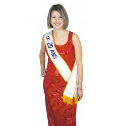 Echarpe Miss 20 ans Accessoires de fête 8731020
