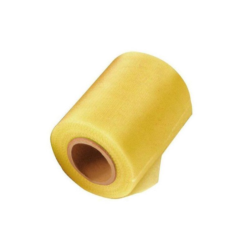 Rouleau de tulle jaune vif 20 m Déco festive 1700025-JAUNE VIF