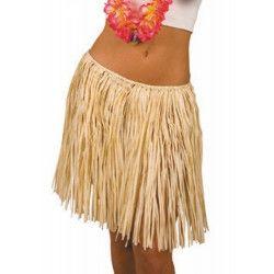 Accessoires de fête, Jupe hawaï raphia naturel enfant, 8651000, 4,80€