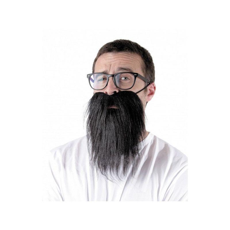 Barbe hipster noire adulte Accessoires de fête 862212B